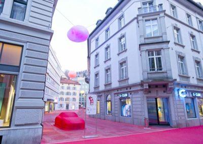 Vadianstrasse roter Platz